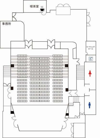 ベガ・ホール平面図